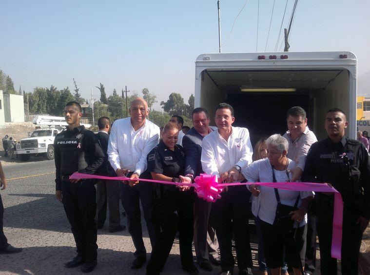 Inaugura Jorge Astiazarán case móvil de seguridad en Jardines de La Mesa