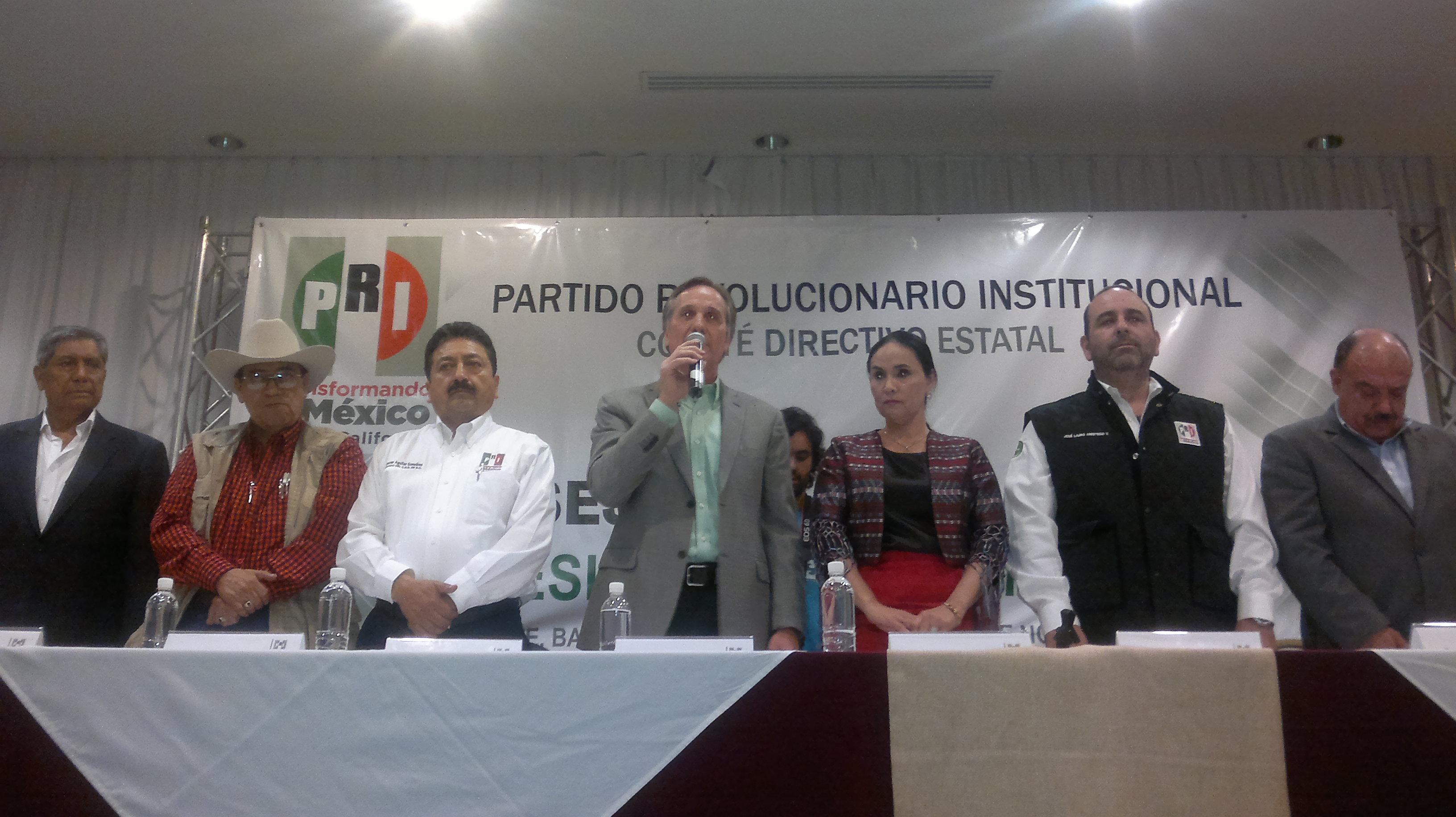 Seleccionará  PRI de BC 4 candidatos en  Asambleas Distritales y  en 4 distritos los nominará una Comisión Electora