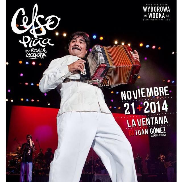Va Celso Piña con su acordeón cumbias y vallenatos a Bogotá, Medellín y Nicaragua