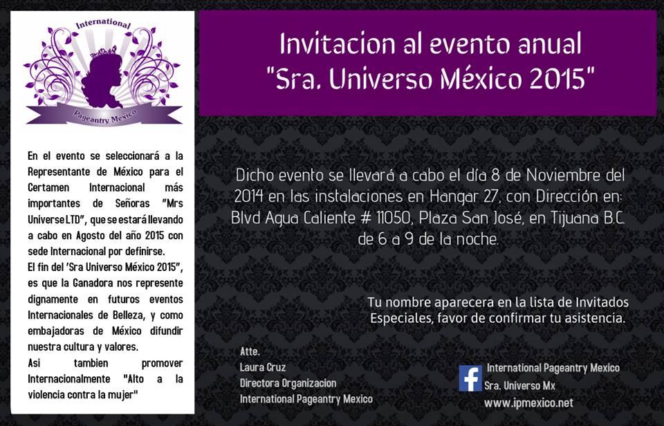 "Seleccionarán el jueves ""Sra. Universo México 2015"" de Tijuana"