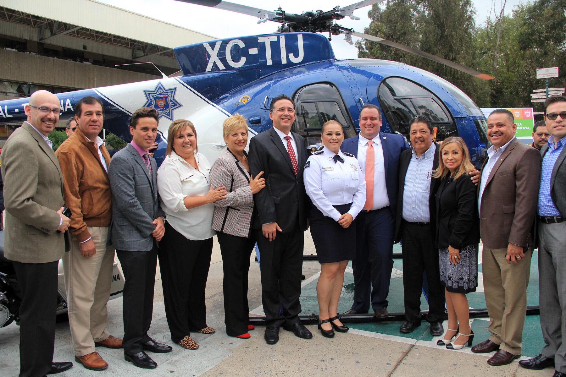 Entregan equipo motorizado a Seguridad Pública Municipal y regresa a volar nuevamente el helicóptero Pegaso