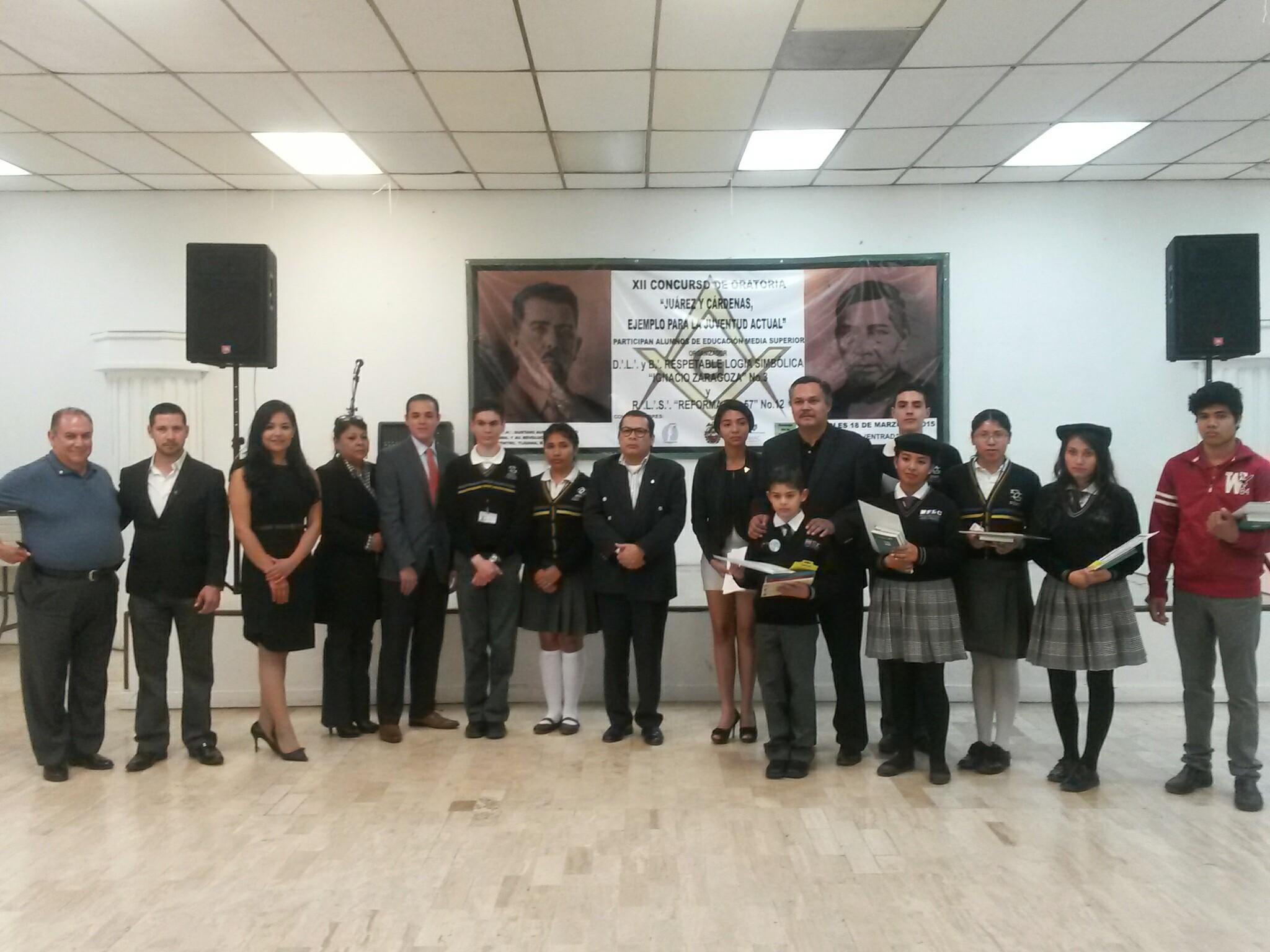 Leonardo Zúñiga, Israel Padilla y Karen Ordoñez ganan concurso de oratoria sobre Juárez y Cárdenas