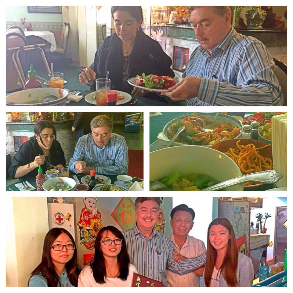 Disfruta gobernador y familia comida china