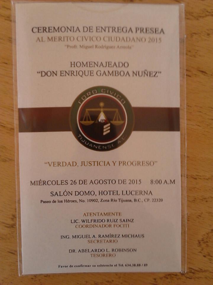 Entregan invitaciones para Mérito Ciudadano