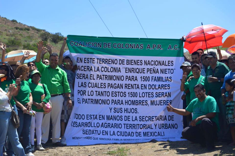 Crearán colonia Enrique Peña con 500 familias,