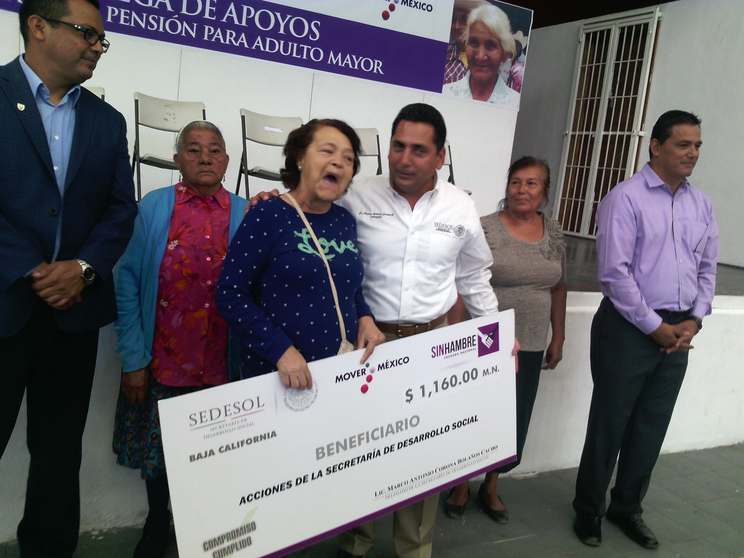 Ayuda Sedesol a 90 mil ancianos en BC