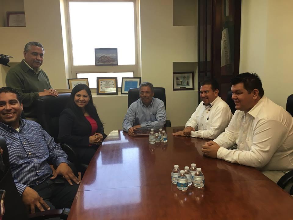 Alcalde de Madero, Coahuila, David Flores de visita en BC