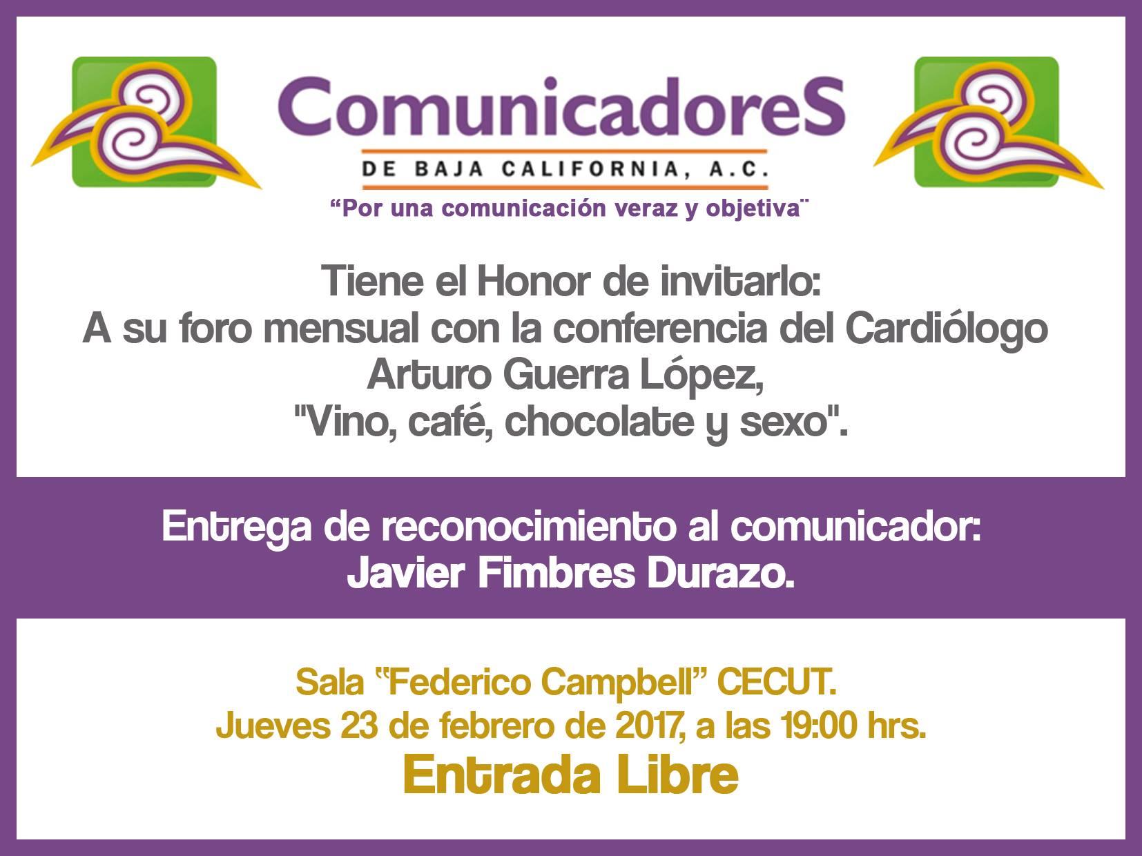 Arturo Guerra estará en  Foro de Comunicadores