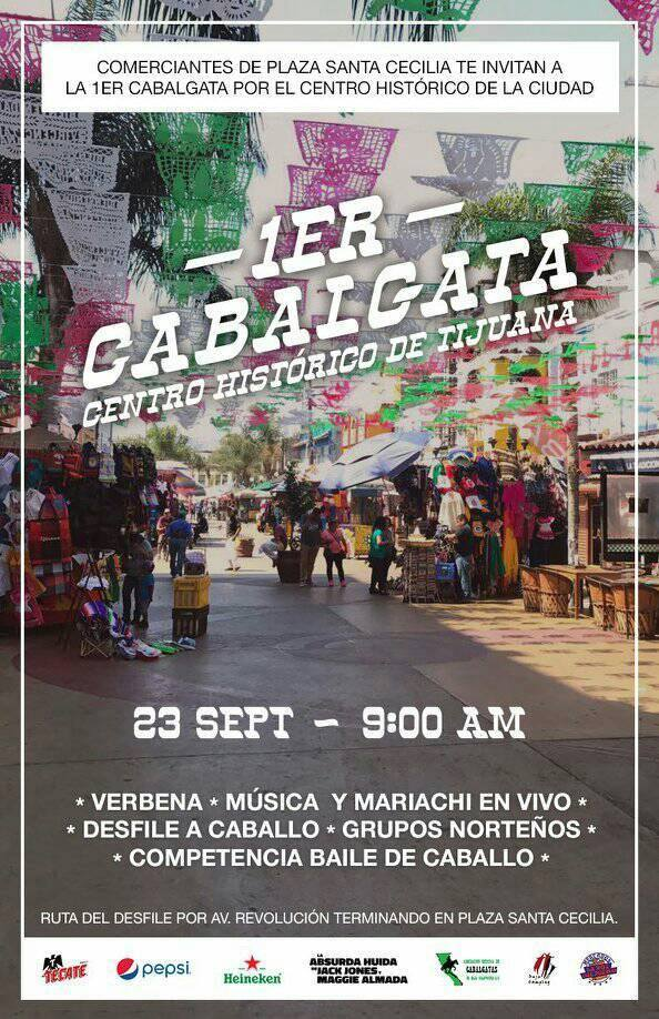 Tendrán cabalgata en centro de  Tijuana