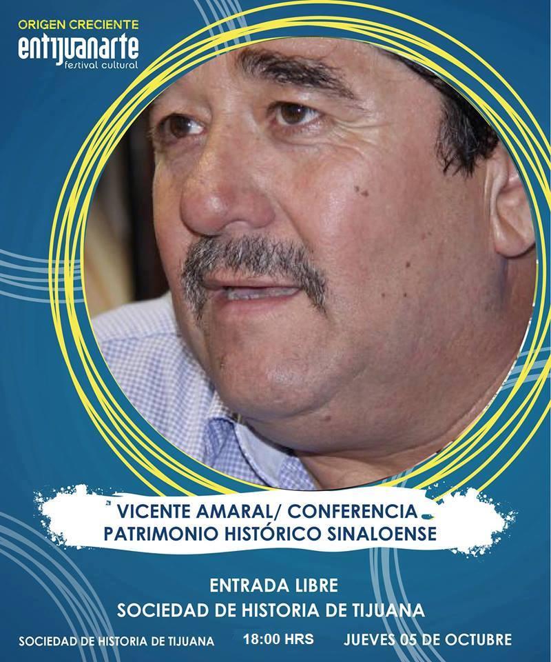 Vicente Amaral hablará de Sinaloa