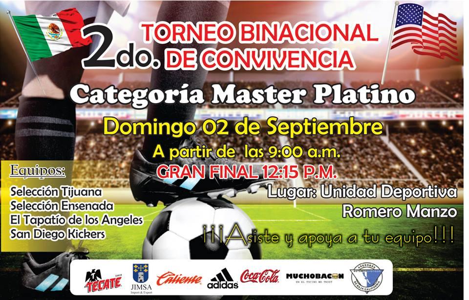 Invitan al Binacional de Futbol Master Latino