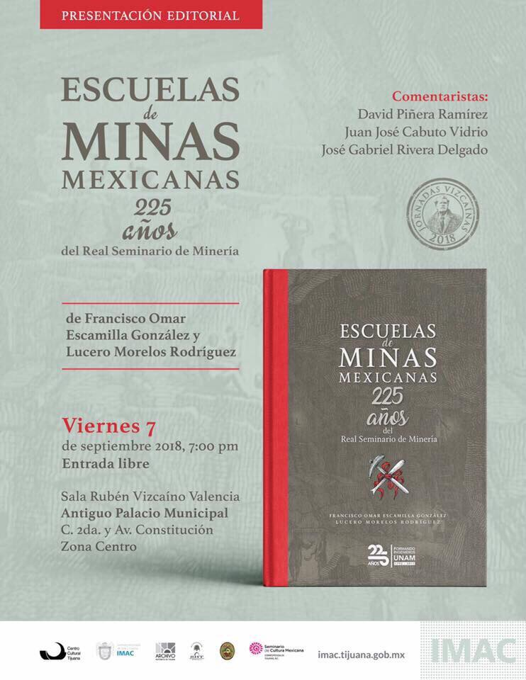 """Presentarán el viernes el  libro """"Escuelas de minas mexicanas"""""""