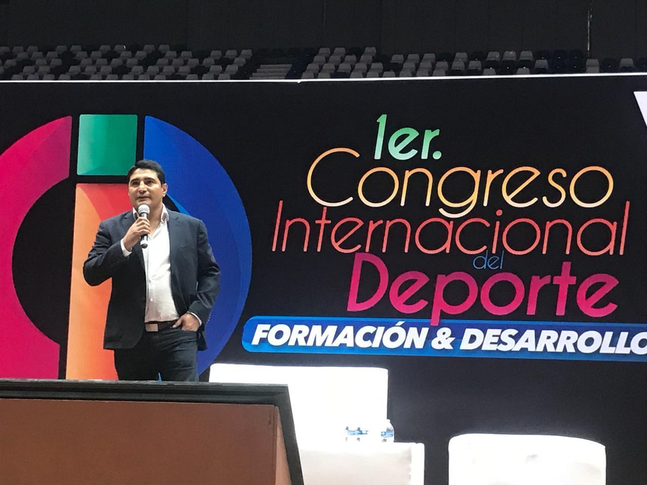 Participa Diputado Erik Morales en Congreso Internacional del Deporte