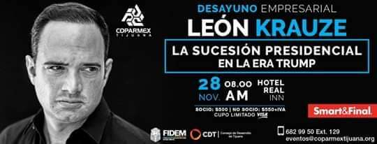 León Krauze hablará en Tijuana de la  Era Trump