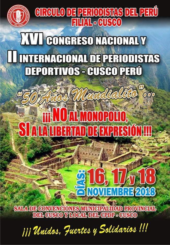 Repetirá México como invitado en Congreso de Periodismo Deportivo en Perú