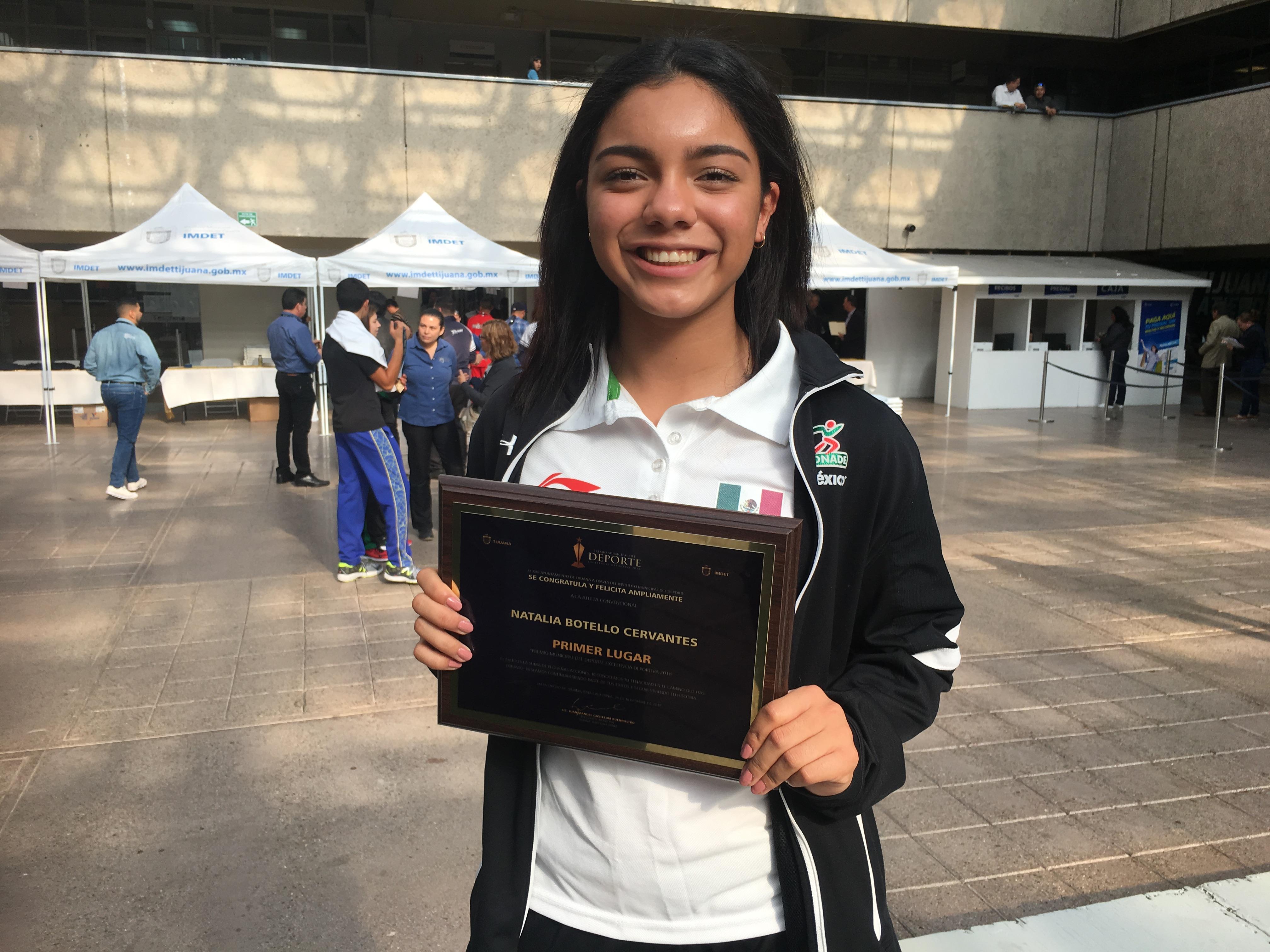 Natalia Botello repitió como Premio Municipal del Deporte