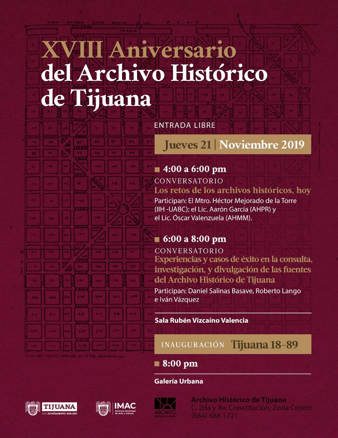 Celebran hoy  XVIII Aniversario del Archivo Histórico de Tijuana.