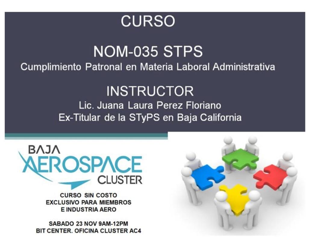 Ofrecen curso  gratuito para socios del Clúster Aeroespacial