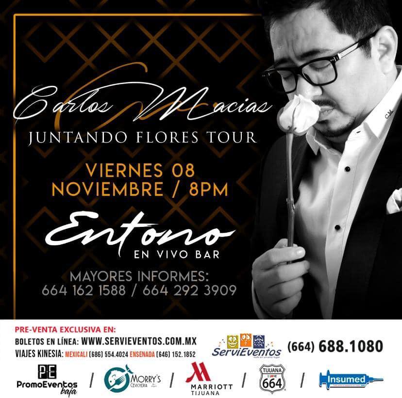 Viene a Tijuana Carlos Macías, cantautor chiapaneco