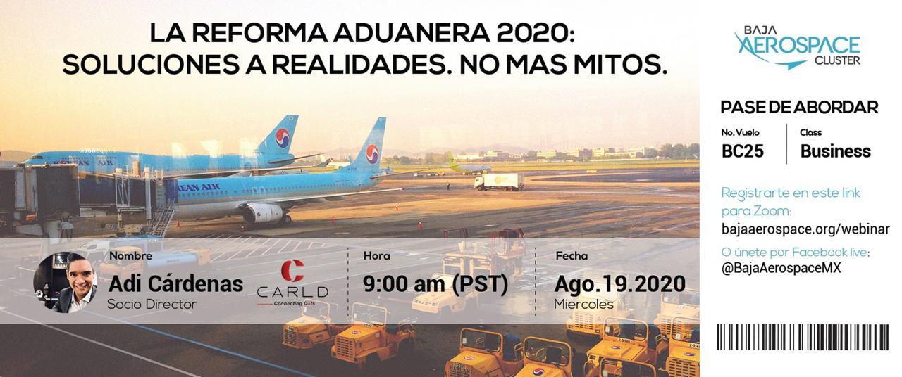 """Invitan a conferencia """"La Reforma Aduanera 2020: Soluciones a realidades. No más mitos¨"""