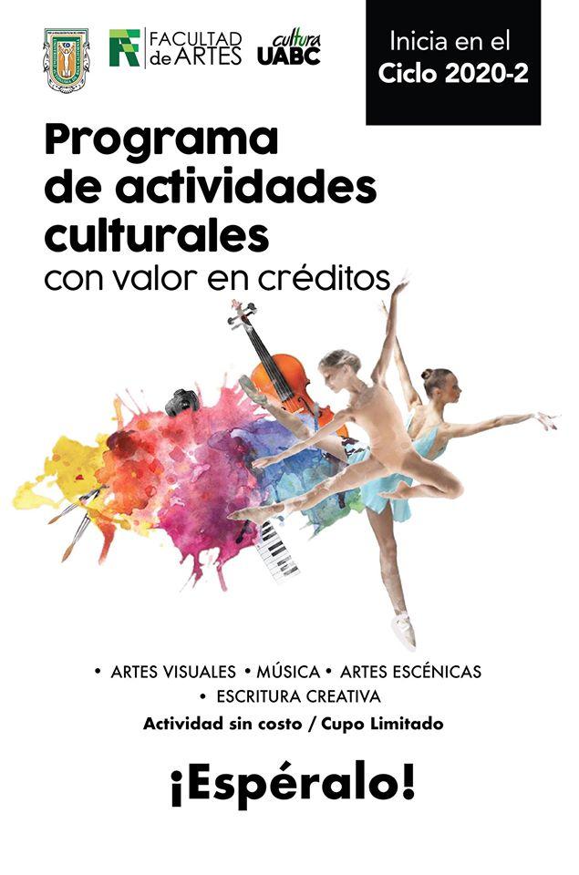 Ofertará UABC Actividades Culturales a Distancia en Ciclo 20-2