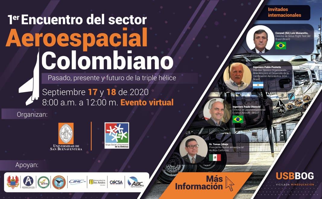 Disertarán sobre el Sector Aeroespacial Colombiano, Pasado, Presente y Futuro