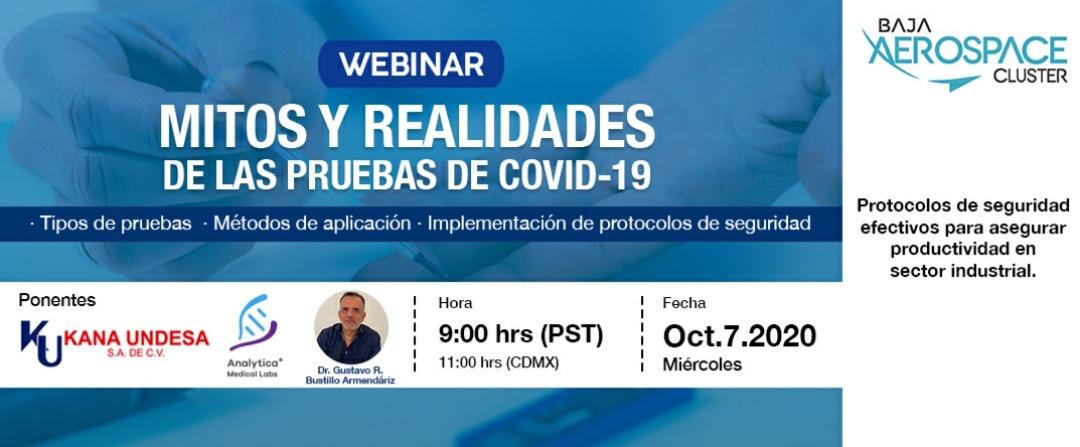 Invitan a Webinar Protocolos y Realidades de las Pruebas Covid 19