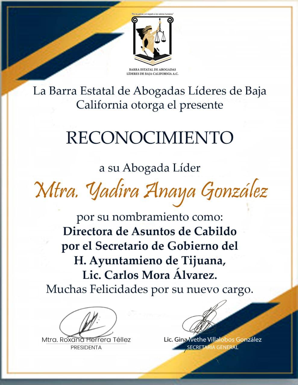 Abogadas felicitan a Yadira Anaya por su nuevo cargo en el Ayuntamiento
