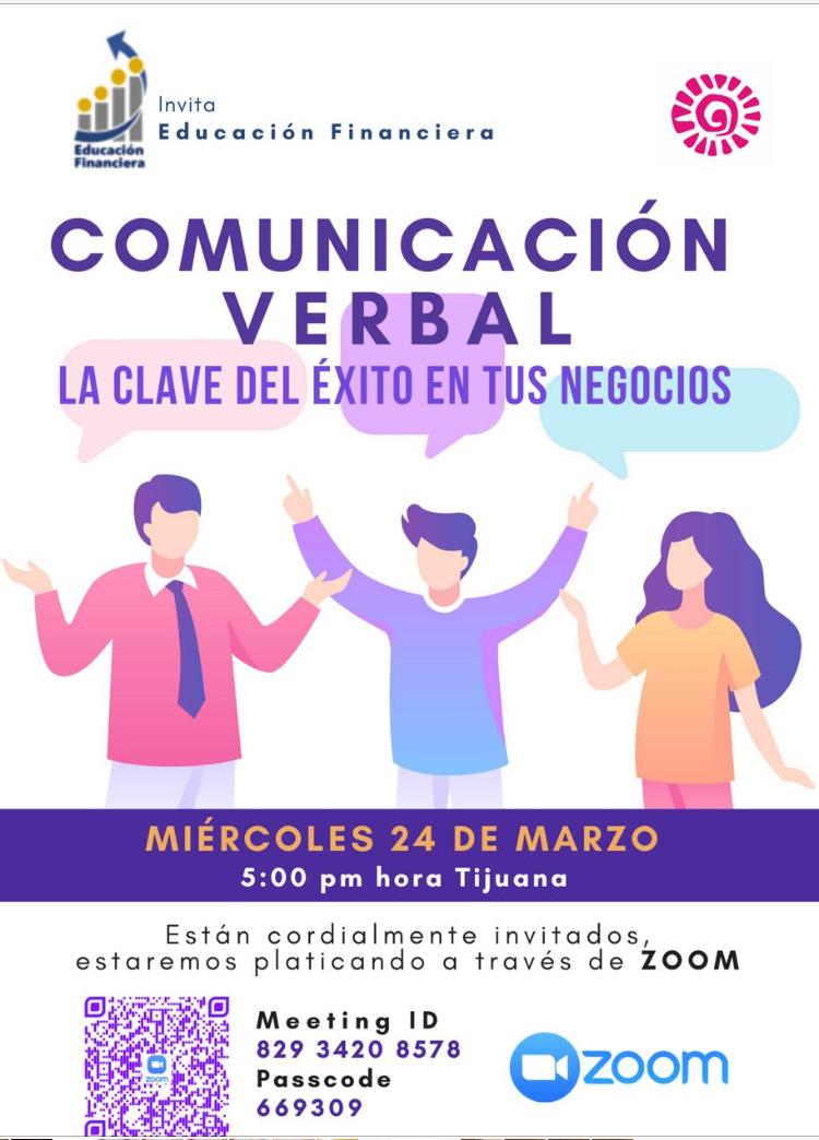 """Invitan a conferencia """"Comunicación Verbal, la clave del éxito en tus negocios"""""""