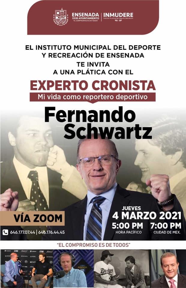 Invita Inmudere a plática con Fernando Schwartz