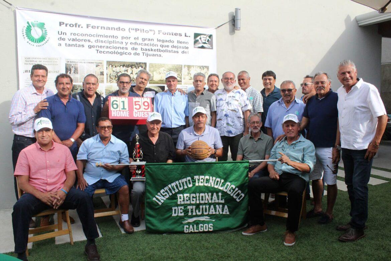 Rinden homenaje a Fernando Fontes, ex entrenador de basquetbol del ITT